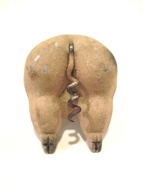 Colonial Crafts Fuzzy Pig Butt Corkscrew