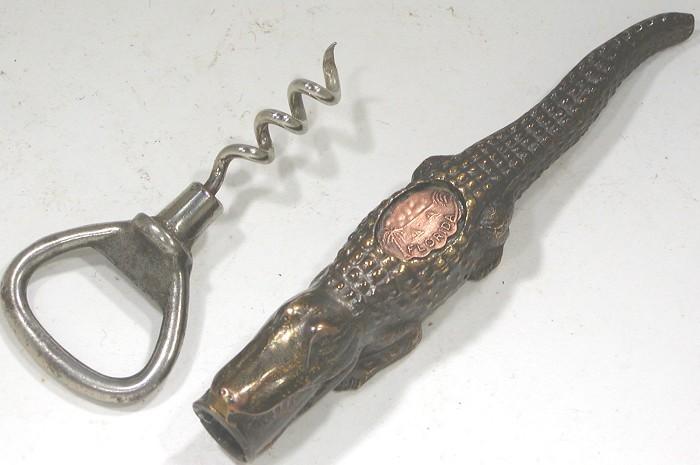 Figural Aligator Corkscrew & Bottle Opener