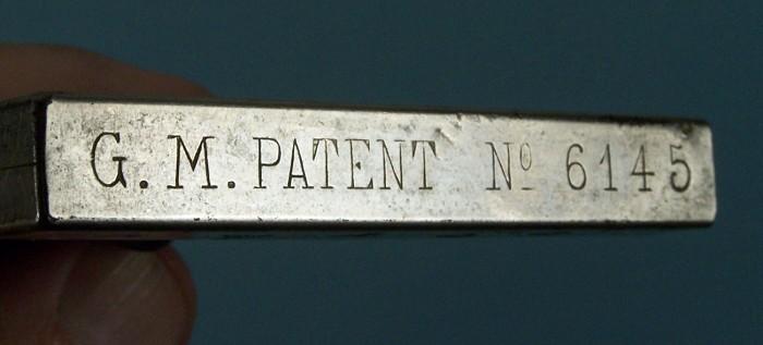 Edmund Jansen 1892 German DRGM - G. M PATENT 6145