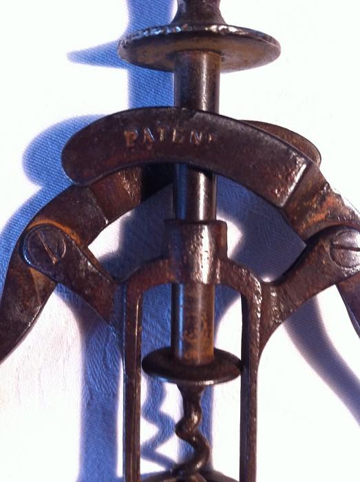 Baker 1880 British Patent Corkscrew