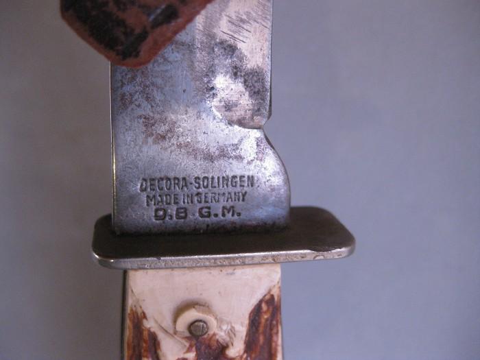GERMAN HUNTING KNIFE w/SHEATH  D.B.G.M.
