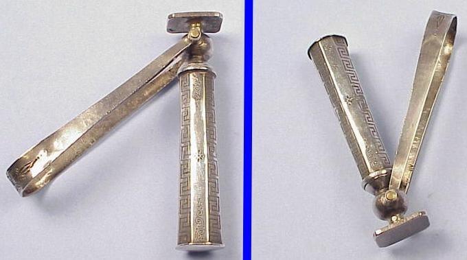 Early Silver Folding Bow Dutch Corkscrew