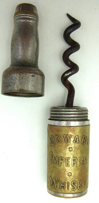 Dewars Imperial Whisky Bottle Roundlet Corkscrew