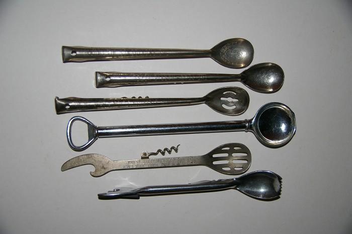 Ellis Collection - 6 cocktail spoon combination corkscrews
