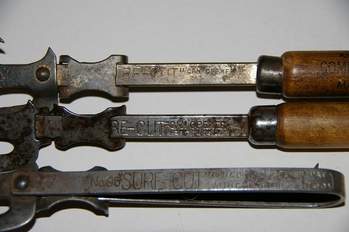 Ellis Colln - 3 Sure-cut can opener combinations US Pat 1904