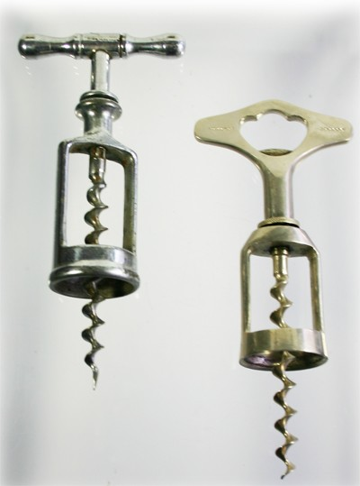 2 ball bearing corkscrews, French Pecquet + German Universal