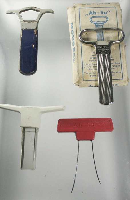 4  two prongs cork extractors, RIBI, AHSO, AH HA etc