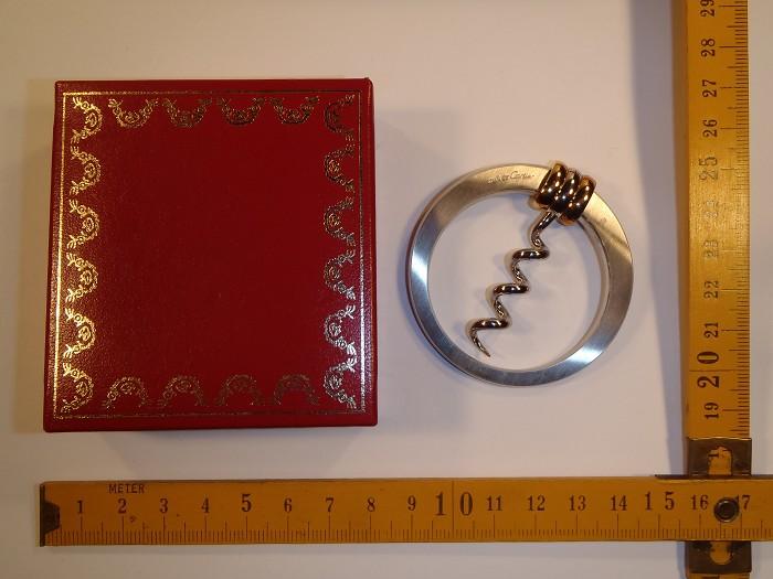 Fancy must de CARTIER folding ring corkscrew in original box