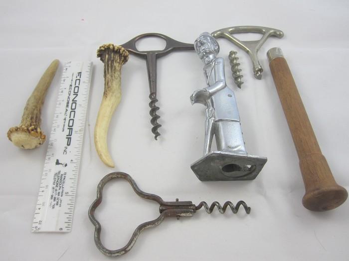 Old Snifter cs.-damaged + 3 other corkscrews