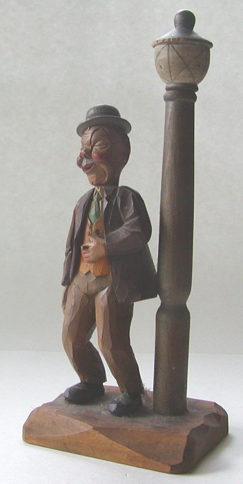 Anri Man with a Lamp Post Figural Corkscrew & Bottle Opener.