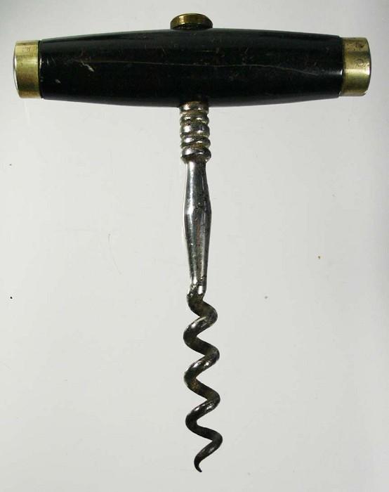 Charming English T corkscrew with bone handle