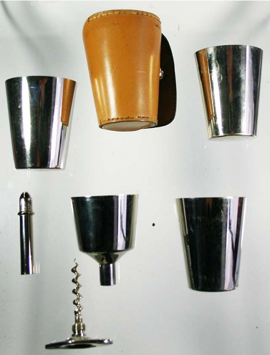 marked German set with funnel, 3 cups DRGM 229916
