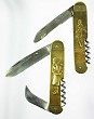 2 brass decorative knives 1930's