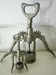 2 Italian corkscrews, a heavy, giant and a normal one 1960's