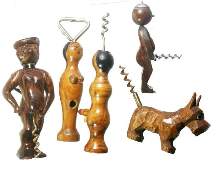 four figural corkscrews
