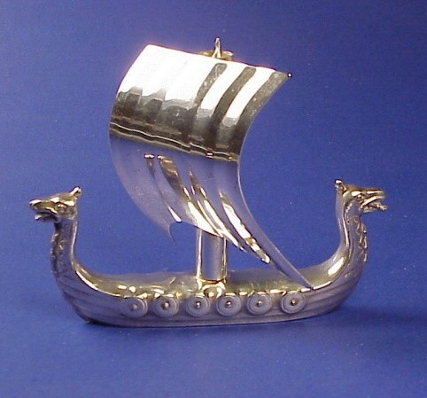 Silver Viking Ship Corkscrew --1957 Masonic Cruise Memento--