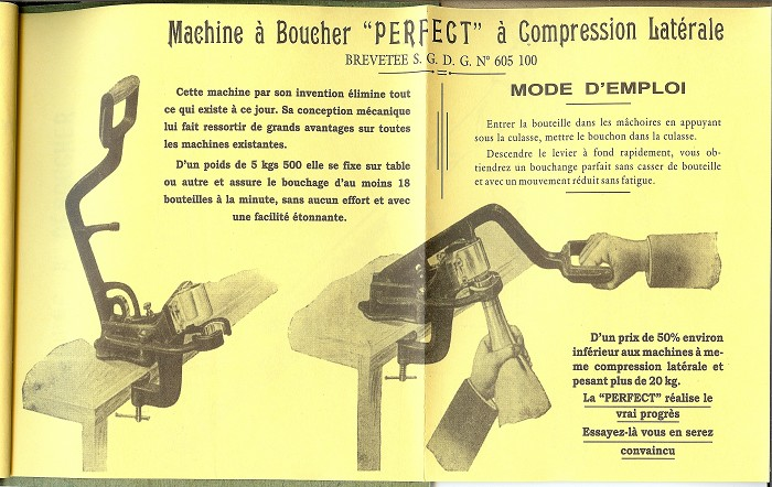 TIRE-BOUCHON CATALOGUE MARTENET (1928-1978) PERFECT CORKSCRE