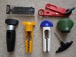 Novelty lot of 7 plastic corkscrews WMF Sieger Tupper AMC ..