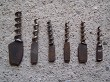 6 early 20th cent forged thuringian pocket knife corkscrews