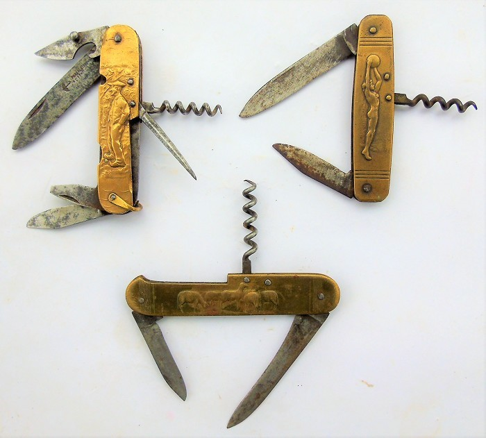 CORKSCREW 3 FRENCH KNIFE COURSOLE FIGURAL TIRE BOUCHON