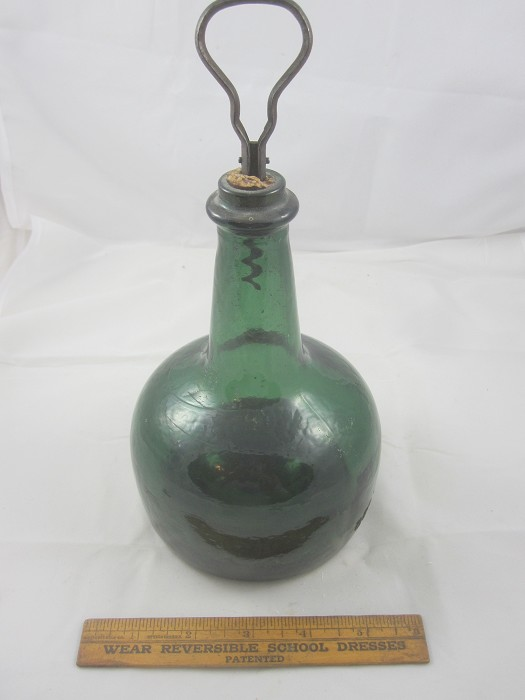 Colonial Era Green Bottle with folding CS.