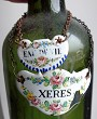 LOT DE 2 LABELS EAU DE VIE & XERES EMAIL ENAMEL WINE LABLE
