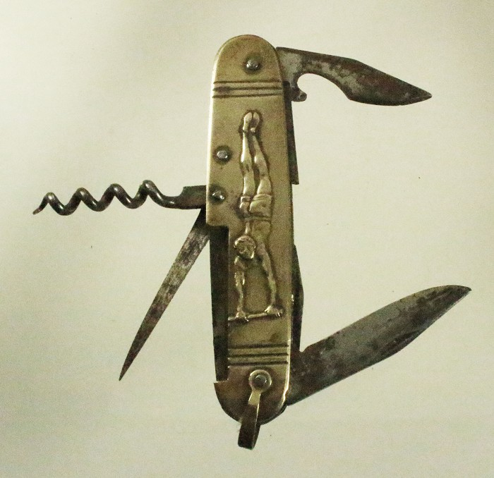 brass corkscrews from the 1930', French knife and Englis T's