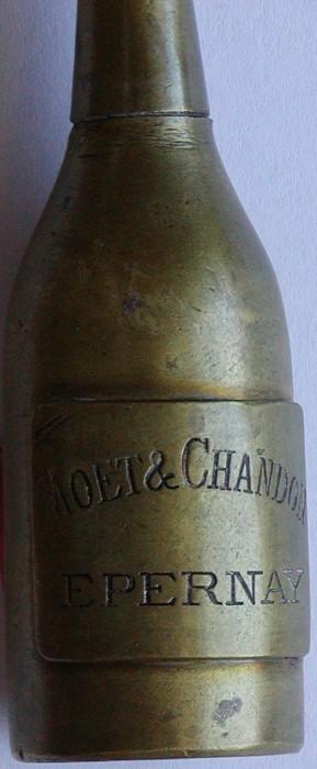 Champagne Bottle Shaped Salt Shaker - Moet & Chandon Badge