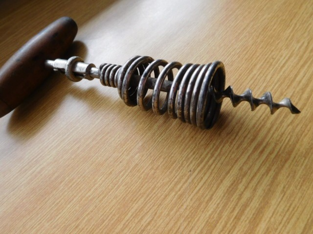 German spring barell corkscrew.