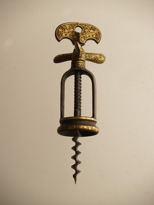 WANTED Spanish Triple Wing Nut Corkscrew with Decoration