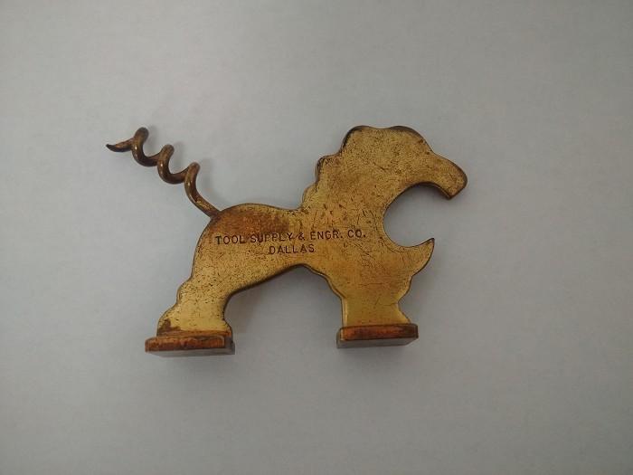 Brass Lion Corkscrew