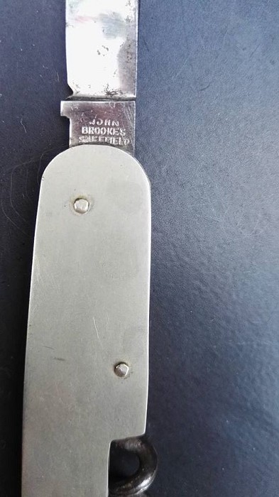 1924 British Registered Design Corkscrew Knife -John Brooke
