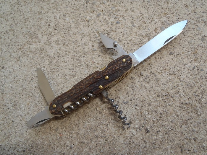 Kaufmann K55 stag handle pocket knife with 2 corkscrews !