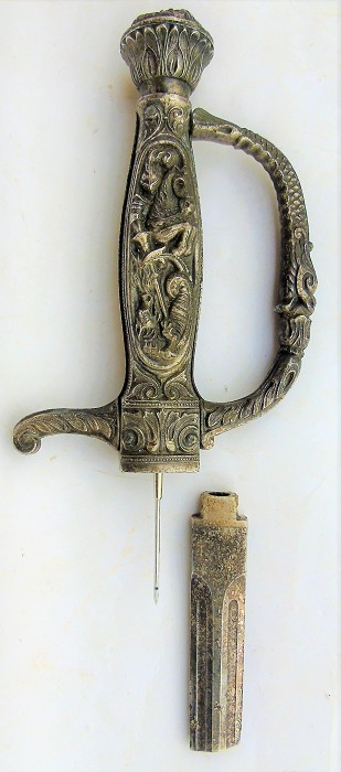 """FRENCH PNEUMATIC CORK EXTRACTOR '' HANDLE OF SWORD """" KNIGHT"""