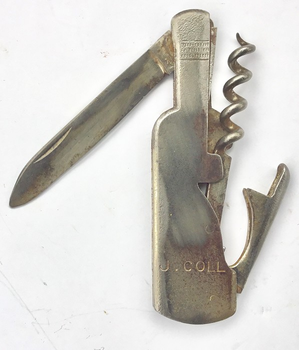 CORKSCREW WINE BOTTLE J.COLL TIRE BOUCHON