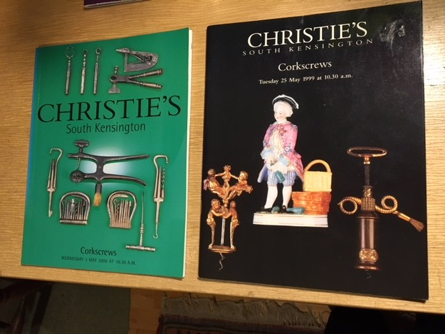 Two Christie's Corkscrew Catalogues - Final Price Reduction