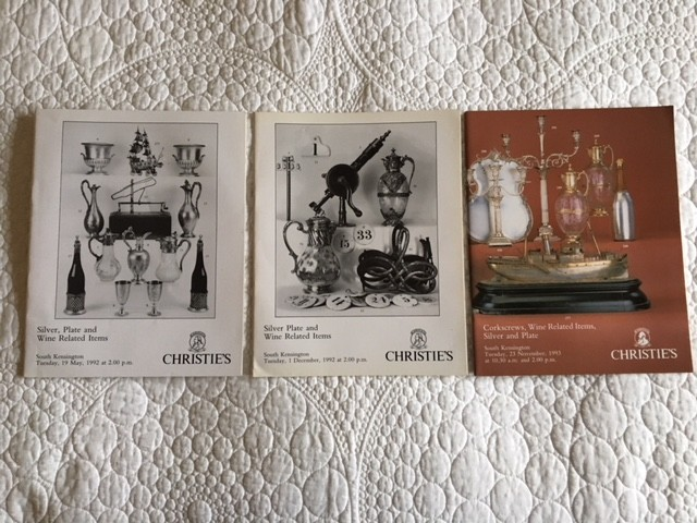 Three Early Christie's  Catalogues  - Final Price Reduction