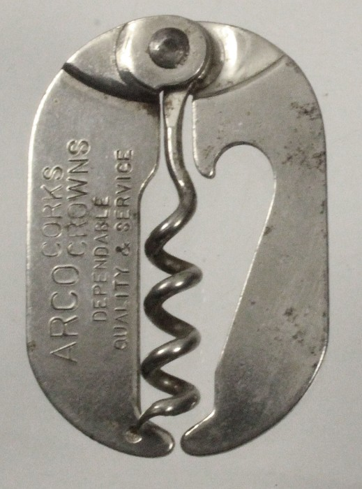 folding corkscrew, cap lifter, known as tip top