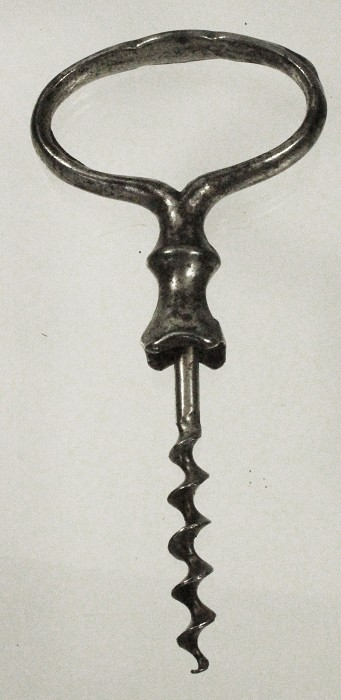 German, decorative corkscrew with claws ca 1890