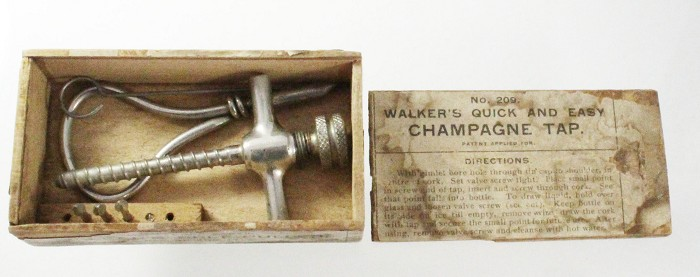 US Walker's patent champagne tap in orginal box QUICK AND EA