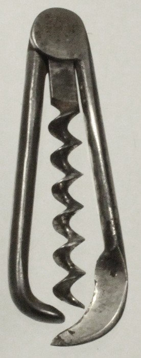 Folding German corkscrew with hoof pick