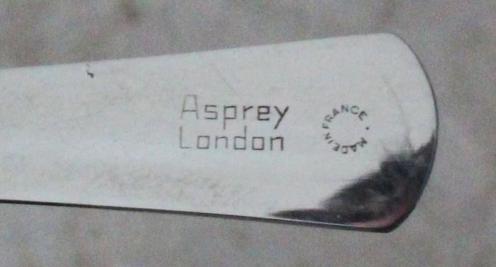 Mint steel ASPREY LONDON set in leather etui incl caplifter