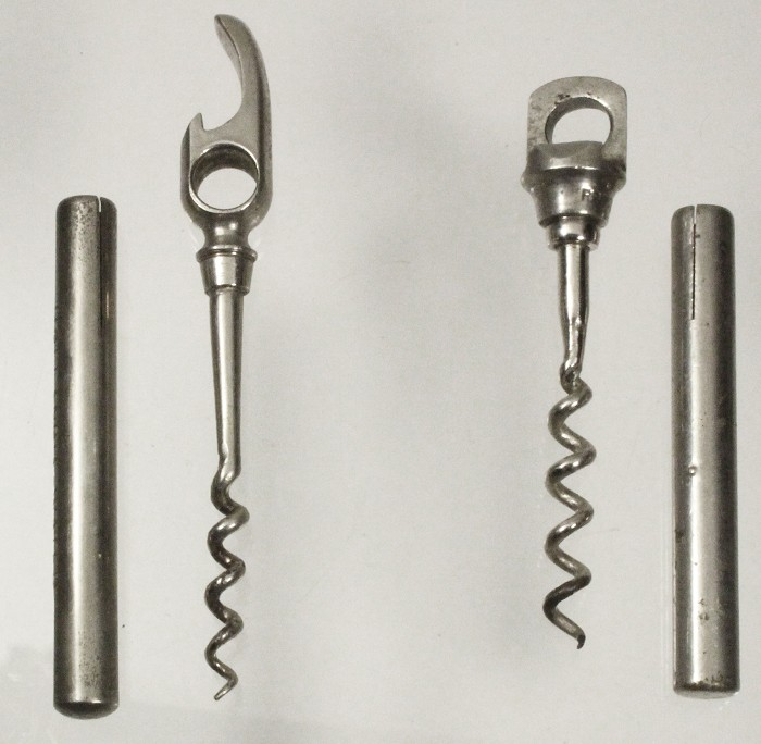 Two pic nic corkscrews, both registered in England , marked