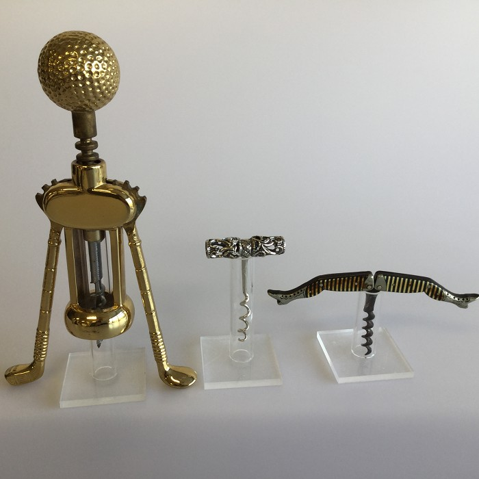10 display supports Acrylic for corkscrews collection 100 mm