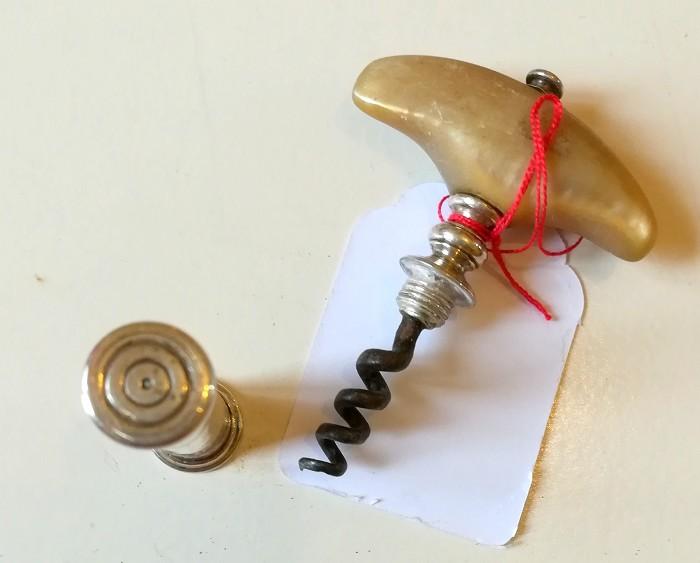 De Sanctis collection: silver pocket corkscrew mop handle