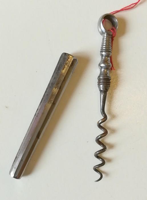 De Sanctis collection: faceted steel picnic corkscrew