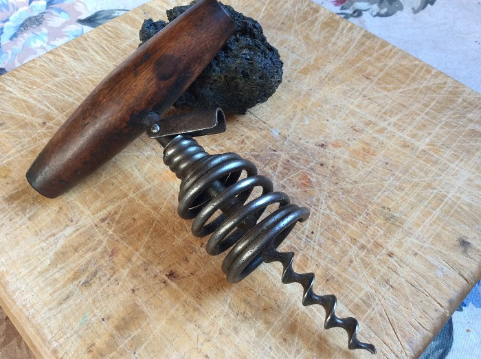 Antique Spring Barrel Corkscrew