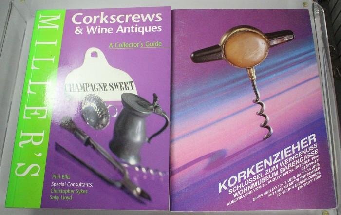 3 corkscrew books, incl Cavatappi, Millar price guide +