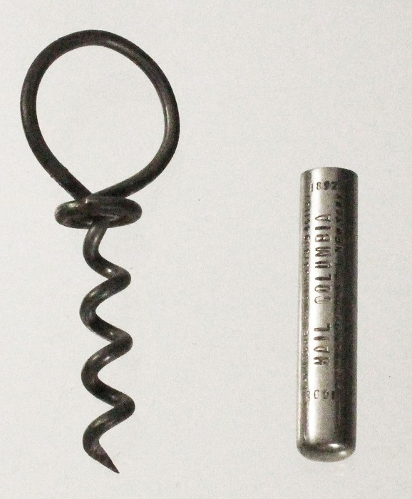Marked CORKSCREW PATS 337309 441137 HAIL COLUMBIA