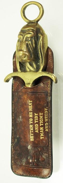 English dog-shaped figural in original etui